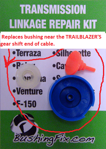 Chevrolet Trailblazer auto transmission linkage repair kit shift cable Bushingfix UP1KIT Bushingfix.com LIFETIME WARRANTY