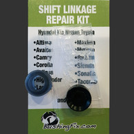 Jeep Liberty shift bushing repair for transmission cable