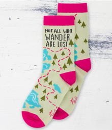 "Socks ""Not All Who Wander"""