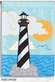 Garden Flag Applique Cape Hatteras Lighthouse