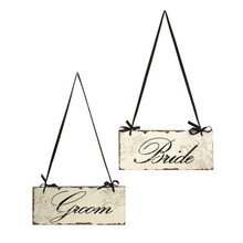 Bride and Groom Wedding Signs