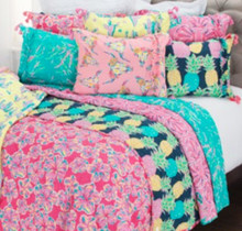 Pineapple Hibiscus Reversible Quilt Set by Simply Southern