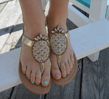 Beaded Pineapple Sandal