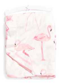 Baby Throw Blanket Pink Flamingo