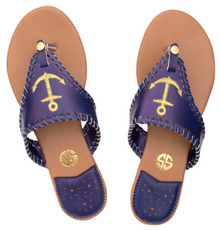 Sandals Navy Anchor by Simply Southern