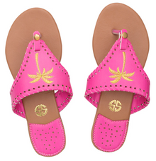 Sandals Pink Palm Tree by Simply Southern