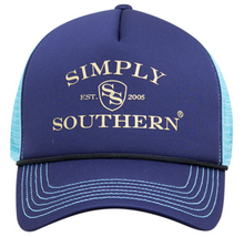 Blue Mesh Logo Hat by Simply Southern
