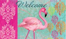 Welcome Mat Pink Flamingo