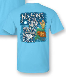 Mermaid T-Shirt Home is the Open Sea
