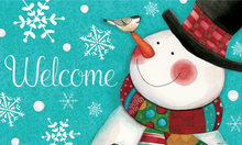 Welcome Mat Dapper Snowman