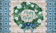 Welcome Mat Coastal Wreath Merry & Bright