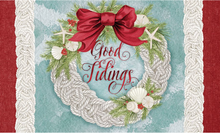 Welcome Mat Good Tidings Rope Wreath