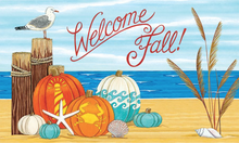 Welcome Mat Coastal Pumpkins