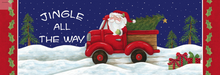 Welcome Sign Jingle All The Way Santa Truck