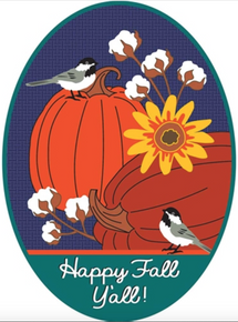 Door Banner Happy Fall Y'all Pumpkins