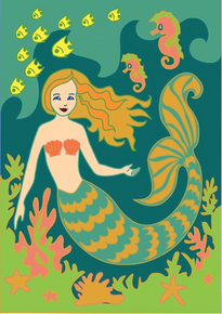 Garden Flag Mermaid Double Applique