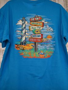 *EXCLUSIVE* Unisex Short Sleeve Tee Hatteras Island Landmarks