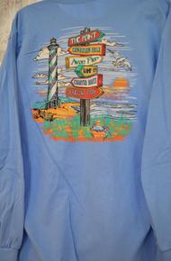 *EXCLUSIVE* Unisex Long Sleeve Tee Hatteras Island Landmarks