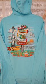 *EXCLUSIVE* Unisex Hoodie Tee Hatteras Island Landmarks
