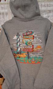 *EXCLUSIVE* Unisex Hoodie Sweatshirt Hatteras Island Landmarks
