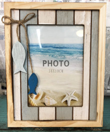 Slatwood Frame with Fish