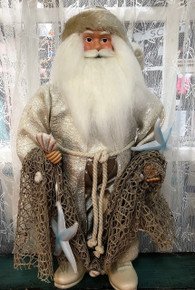 Coastal Santa with Fishing Net and Shells