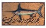 Vintage Swordfish Canvas