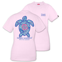 Simply Southern T-shirt Sea Turtle Swirly