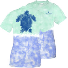 Simply Southern T-shirt Sea Turtle Blue Green Tie Dye