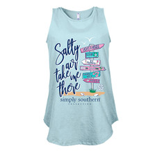 Simply Southern Flowy Tank Top Beach Signs