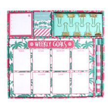 Simply Southern Weekly Stationary Set -Palm Trees