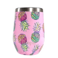 Simply Southern Stemless Wine Tumbler with Lid - Pineapples