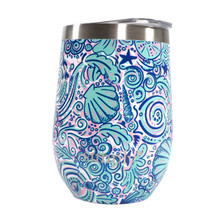 Simply Southern Stemless Wine Tumbler with Lid - Swirly Shell