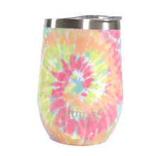Simply Southern Stemless Wine Tumbler with Lid - Tie Dye