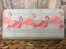 Zip-Around Wallet Flamingos