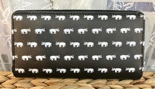Zip-Around Wallet Elephants
