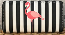 Zip-Around Wallet Flamingo Stripe