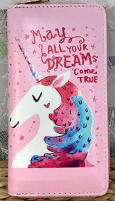 Zip-Around Wallet Unicorn Dreams