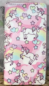 Zip-Around Wallet Unicorn Hearts