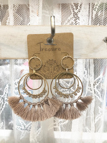 Tassel Earrings Mauve