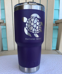 Custom Yeti 30oz Purple Tumbler with Sea Turtle