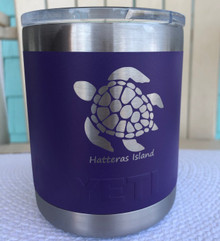 Custom Yeti 10oz Purple Lowball with Sea Turtle