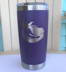 Custom Yeti Purple 20oz Tumbler with Mermaid Outer Banks