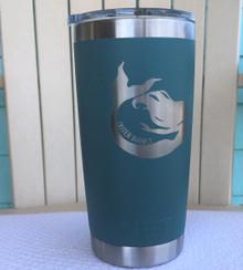 Custom Yeti River Green 20oz Tumbler with Mermaid Outer Banks