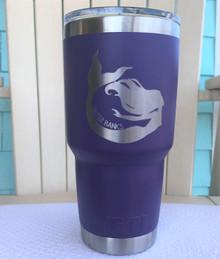 Custom Yeti 30oz Purple Tumbler with Mermaid Outer Banks