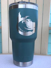 Custom Yeti 30oz River Green Tumbler with Mermaid Outer Banks