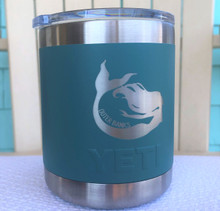 Custom Yeti 10oz River Green Lowball with Mermaid Outer Banks