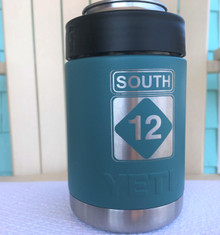 Custom Yeti River Green Colster with South 12