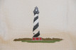 Close-up of the Cape Hatteras Lighthouse design on the quilt
