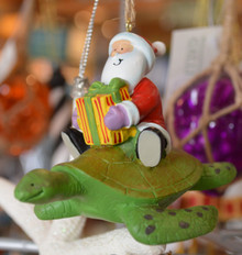 Santa and Sea Turtle Ornament
